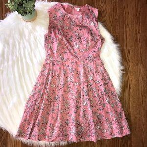 GAP Pink Floral Sheath Dress Women's Size 4